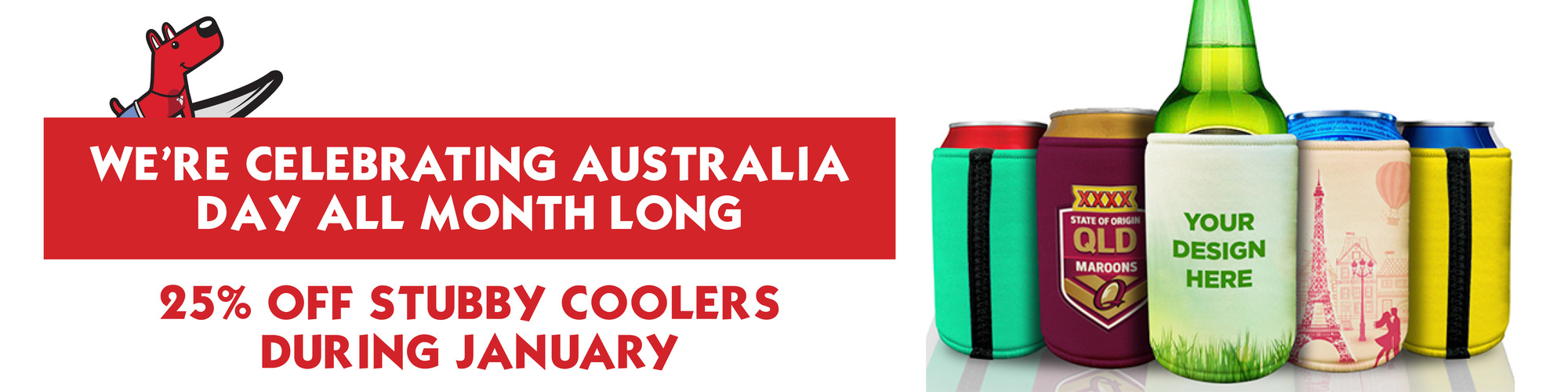 25% Off Stubby Coolers January