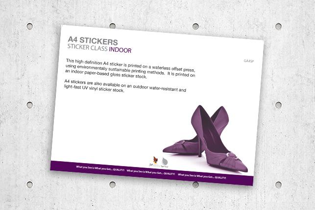 A4StickersStickerClassIndoor