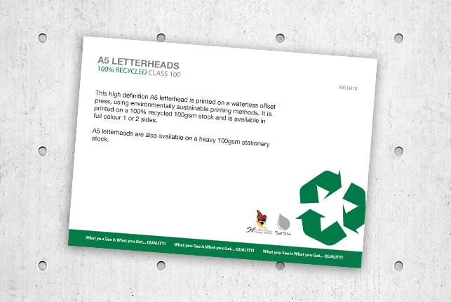 A5Letterheads100%RecycledClass100
