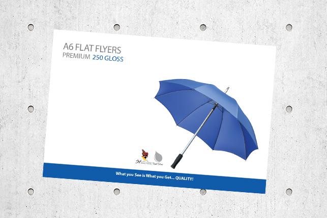 A6 Flat Flyers - Premium 250 Gloss