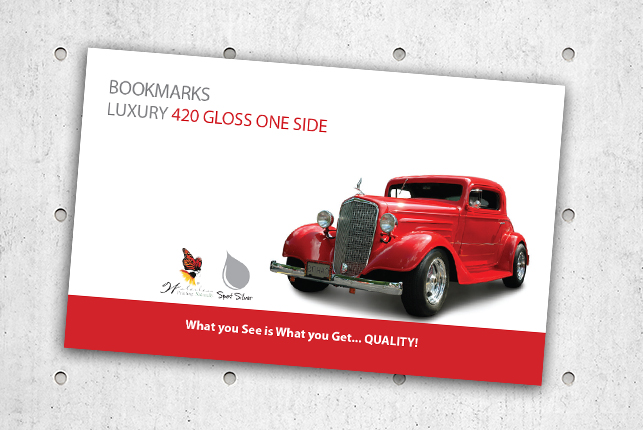 Bookmarks - Luxury 420 Gloss One Side