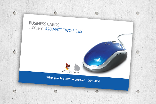 Business Cards - Luxury 420 Matt Two Sides
