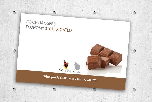 Door Hangers - Economy 310 Uncoated