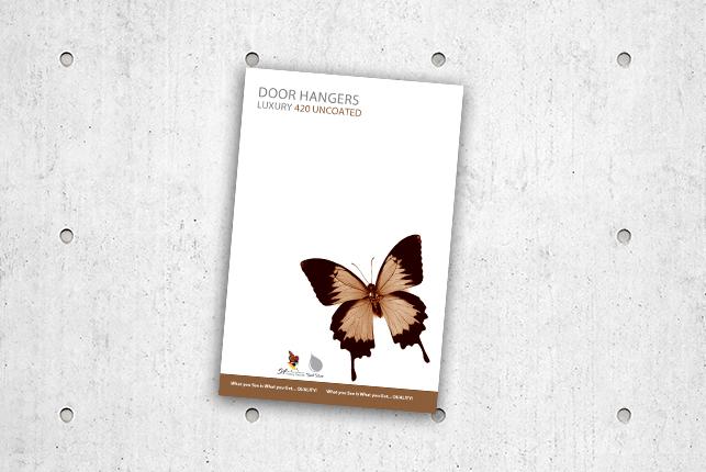 Door Hangers - Luxury 420 Uncoated