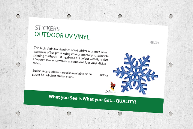 Stickers - Outdoor UV Vinyl
