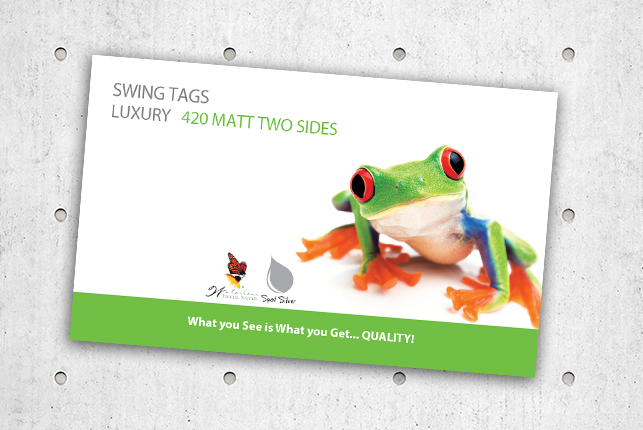 Swing Tags - Luxury 420 Matt Two Sides