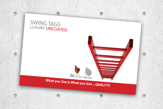 Swing Tags - Luxury Uncoated